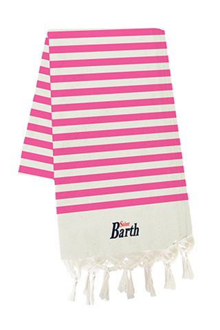MC2 SAINT BARTH LIG25-FOUTAS LIGHTFLUO PINK STRIPES